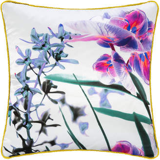 Roberto Cavalli Phalaenopsis Silk Cushion - 40x40cm - Pink