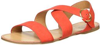 Qupid Women's Caged Flat Sandal