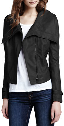 Neiman Marcus Cusp by Faux-Leather Shawl-Collar Jacket (Stylist Pick!)