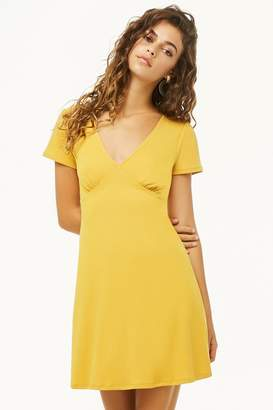 Forever 21 Ribbed V-Neck Swing Dress
