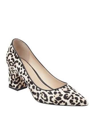 Marc Fisher Zalaly Leopard-Print Chunky-Heel Pumps