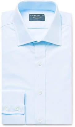 Emma Willis Sky-Blue Slim-Fit Cotton Oxford Shirt