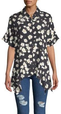 Lord & Taylor Sofia Floral Asymmetric Shirt