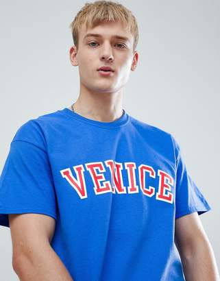 New Look T-Shirt With Venice Print In Blue