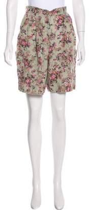 Dolce & Gabbana Silk High-Rise Shorts