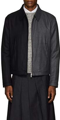 Thom Browne Men's Striped Two-Tone Wool Golf Jacket