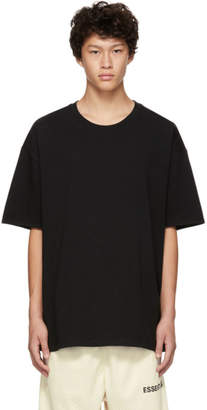 Essentials Black Boxy Graphic Logo T-Shirt