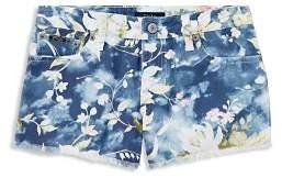 Ralph Lauren Girls' Floral-Print Denim Shorts - Big Kid