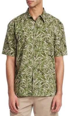 Saks Fifth Avenue COLLECTION Hawaiian Print Shirt