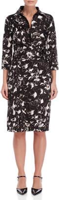 Samantha Sung Black Velvet Flower Sloan Dress