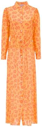 Amir Slama jaguar silk beach dress