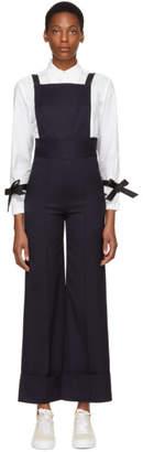 Shushu/Tong Navy Wool Overalls