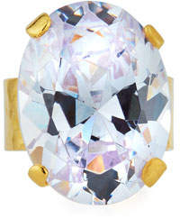 Devon Leigh Clear Cubic Zirconia Oval Ring
