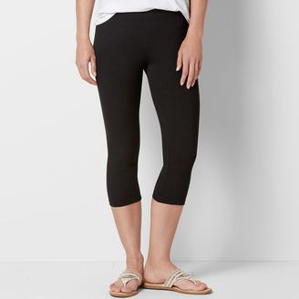 Women's SONOMA Goods for LifeTM Wide Waist Capri Leggings $16 thestylecure.com