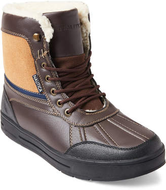 Nautica Brown Lockview Lace-Up Boots