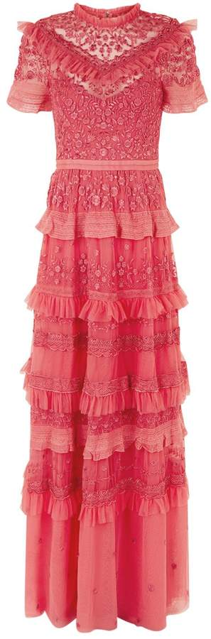 Iris Ruffle Tiered Gown