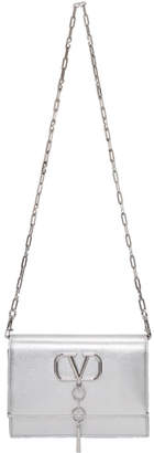 Valentino Silver Garavani VCase Crossbody Bag