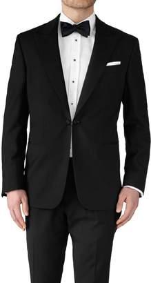 Charles Tyrwhitt Black Slim Fit Peak Lapel Tuxedo Wool Jacket Size 38