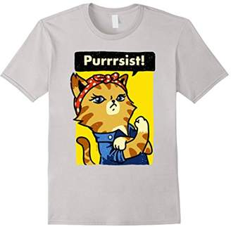 We Can Do It Poster Strong Women's March T-Shirt Cat Lover