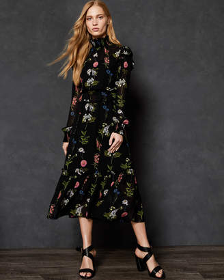 Ted Baker SIMARRA Florence midi long sleeve dress