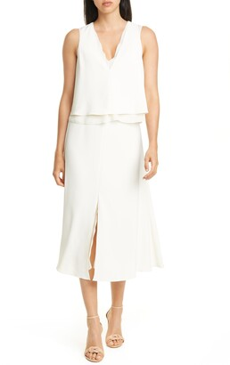 Reiss Viola Layered Sleeveless Dress
