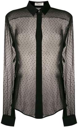 Saint Laurent sheer embroidered blouse
