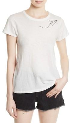 Women's Rag & Bone/jean Embroidered Slim Cotton Tee $95 thestylecure.com