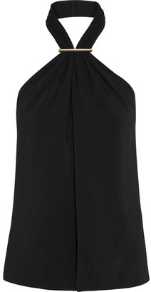 Jason Wu - Embellished Stretch-cady Halterneck Top - Black $795 thestylecure.com