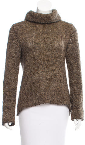 Dolce & Gabbana D&G Wool Metallic Turtleneck