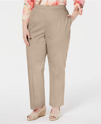 6e132d5461c Alfred Dunner Plus Size Society Pages Flat Front Pull On Pants