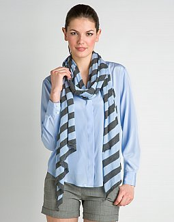 Cotton Striped Scarf
