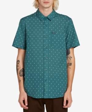 Volcom Men's Printed Short Sleeve Woven Shirt