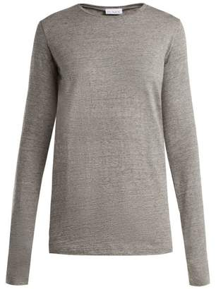 Raey Long Sleeved Slubby Cotton Jersey T Shirt - Womens - Light Grey