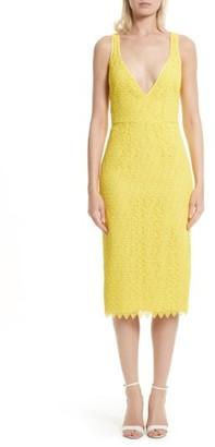 Women's Diane Von Furstenberg Lace Midi Sheath Dress $448 thestylecure.com