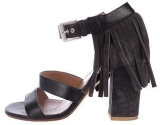Laurence Dacade Suede Fringe Sandals Grey Suede Fringe Sandals