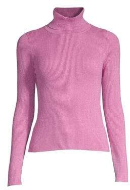 Robert Rodriguez Lurex Ribbed Turtleneck Sweater