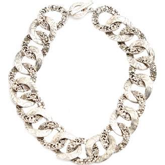 Kenzo Silver Metal Necklace