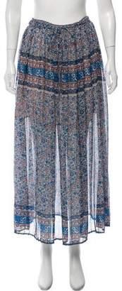 Joie Pleated Silk Midi Skirt