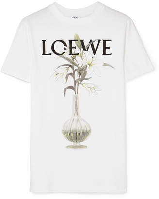 Loewe Printed Cotton-jersey T-shirt - White