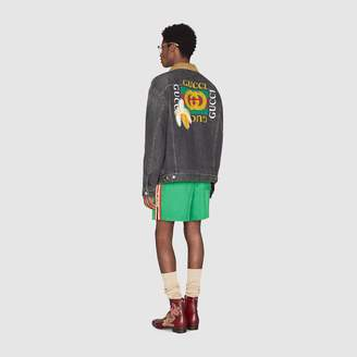 Gucci logo denim jacket
