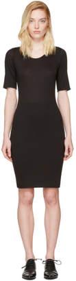 Raquel Allegra Black Jersey Fitted Dress