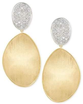 Marco Bicego Large Diamond Lunaria 18k Gold Double-Drop Earrings