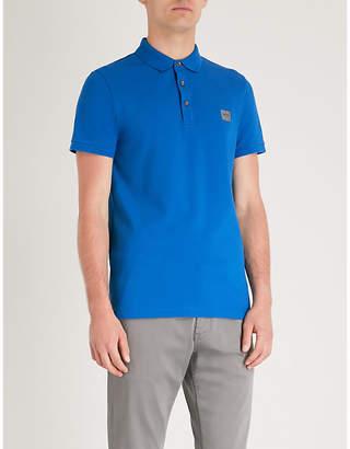 BOSS Logo-embroidered cotton-piqué polo shirt