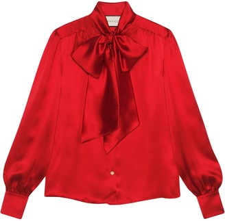 Gucci pussy-bow neck blouse