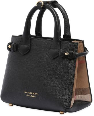Burberry Baby Banner Leather & House Check Bag