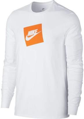 Nike Mens Sportswear Futura Box Long Sleeve Tee