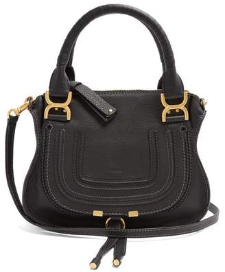 Chloé Marcie Leather Handbag - Womens - Black