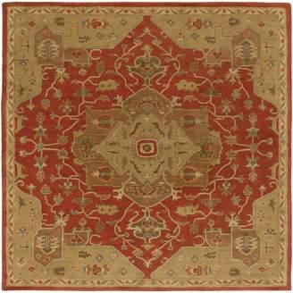 Surya CAE1147-6SQ Hand Tufted 100-Percent Wool Classic Square Area Rug, 6-Feet