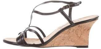 Manolo Blahnik Patent Leather Wedge Sandals