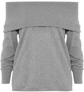 Joie Bade Off-The-Shoulder Cotton And Cashmere-Blend Sweater